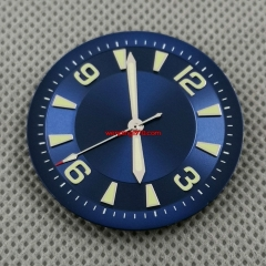 33.5mm sterile blue Watch Dial with Hands fit Miyota 8215 821A DG2813 Movement