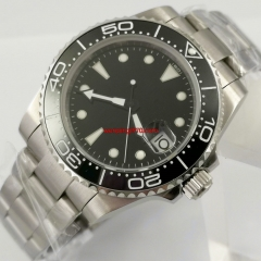 40mm luminous sterile black dial date window 316L stainless steel oyster bracelet DG2813 automatic movement men's watch
