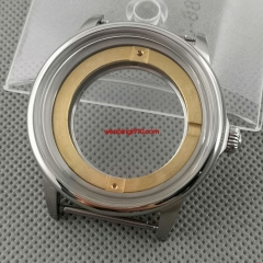 42mm silver steel brushed watch case Fit miyota 8215/8205/821A ETA 2836 DG2813 3804 automatic movement P1117