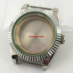 40mm sapphire glass automatic silver Watch Case fit NH35 NH36 MOVEMENT