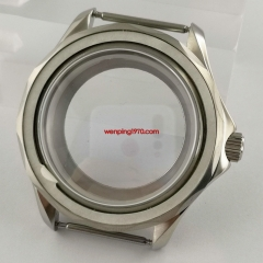 41mm steel silver Watch Case glass back sapphire crystal Fit Seiko NH35 NH36 NH35A movement P1186