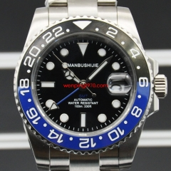 40mm GMT Luxury Men Watch Batman ceramic bezel Fashion Sport High DG3804 Automatic Mechanical 100ATM Waterproof Swim Watch High Quality