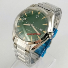 40mm sterile green dial NH35A Automatic mens Watch sapphire crystal steel case bracelet